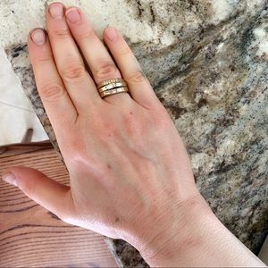 Ann Taylor 3 layered stacked rings